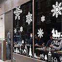 "ciudad silenciosa ventana paisaje pegatina Feliz Navidad (70.8 ""W x 39.36"" l)"