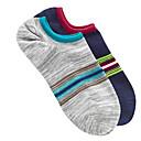 2 pares de calcetines de algodón de la raya