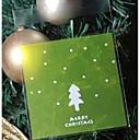 10 piezas de la bolsa de regalo del árbol de navidad verde