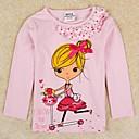 Girls T shirt Round Collar Cute Girls Printed Long Sleeve Kids Clothes Antumn Winter Children Tees