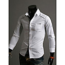 GMIG Men's Long Sleeve Slim Causual Constrast Color Shirts