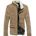 algodón de moda coreano abrigo de lana de terciopelo causal de senleisi hombres