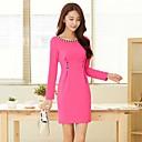 Womens Fashion Long Sleeve OL Slim Dress(More Colors)
