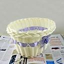 1pcs cesta de mimbre blanco natural de almacenamiento de alta barril (entrega al azar)