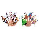 10pcs navidad STROY los títeres de dedo canción infantil niños hablan prop