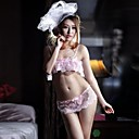 sujetador de encaje de color rosa de la mujer con ropa de noche bikini triángulo