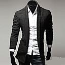 quieren manga larga de color puro delgado tejer chaqueta de punto de los hombres