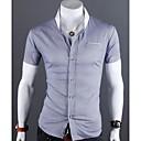 camisa de manga corta de corte ceñido para hombres manlodi