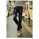 Mens Elastic force Slim Jeans Pencil Pants