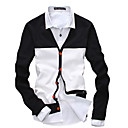 Bnuosi Men's Fashion Fitted Splicing Cardigan