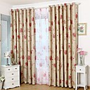 Blackout Double Sided Printing Country Colorful Blooming Flowers Curtain (Two Panel)