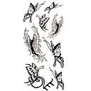 1pc ángel negro de la mariposa del tatuaje impermeable molde muestra pegatina tatuajes temporales de arte corporal (18.5cm  8.5cm)