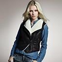 británico sherpa estilo chaleco de cuero de lana de Veri gude mujeres