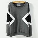 Womens Korean Geometry With Cashmere Loose Sweatshirts