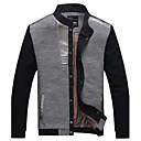 Mens Stand Collar Stitching Jacket