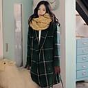 IncernWomens  Casual Loose Woolen Long Overcoat