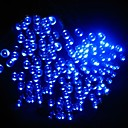 21M 200-LED Solar Powered Christmas Lights String Lamp Indoor Outdoor Flashing Light Strip - Blue