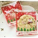 10 piezas padre rojo de la Navidad con bolsa de regalo de caramelo trineo