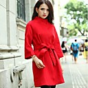 Womens Long Collar Cashmere Wool Coat (More Colors)