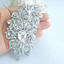 aleación de moda de cristal rhinestone tono plateado flor de la boda de las mujeres broche nupcial