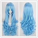 club de cosplay peluca del partido colorido pop onda larga peluca de pelo sintético para damas