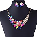 Womens Europe Fashion Colorful Peacock Jewelry Set(Including Necklaces Earrings)