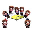 7PCS Five Little Monkeys Jumping on The Bed Plush Finger Puppets Kids Talk Prop