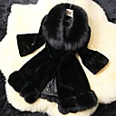 abrigos de piel elegancia temperamento delgado de manga larga de las mujeres xt