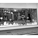"bosque nevado paisaje ventana pegatina Feliz Navidad (70.8 ""W x 19.68"" l)"
