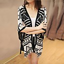 Womens Plus Size Loose Fit Novelty Knitting Shawl Cardigan