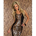 Beauty 2014 New Women Summer Dress Sexy Leopard Printed Dress Bodycon Midi Dress Party Dress 9032