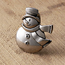 Set of 4 Snowman Napkin Ring, Zinc Alloy,5.7x4cm