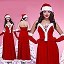bastante nuevo sin respaldo años coro de terciopelo rojo traje de navidad