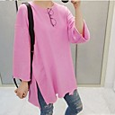 Womens Pure Color  Long Sleeve Shirt(More Colors)