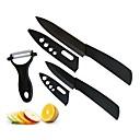 blade negro 3 piezas de cuchillos de cerámica conjunto con tapas, 3 '' cuchillo para pelar 5 '' cuchillo multifunción