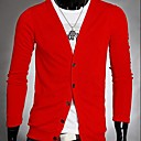 camisa de algodón con cuello en v ruilikemen color sólido ocasional prendas de punto de manga larga