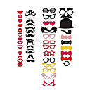 50 Piece Card Paper Photo Booth Props/Party Fun Favor