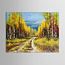 Hand Painted Oil Painting Landscape Autumn Scenery Hills with Stretched Frame