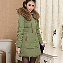 KissTiesWomens Fur Collar Warm Plus Sizes Hoodies Zipper Down Coat