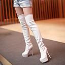 altura de la rodilla botas de plataforma de tacón de aguja talón de las mujeres Loubo