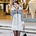 WeiMeiJia Womens Slim Thicken Woolen Down Jacket