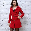 OZLWomens Lapel Belt Tweed Trench Coat(More Colors)