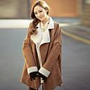 abrigo de piel de oveja de moda femenina eliang