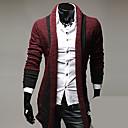 quiera de manga larga temperamento delgado tejer chaqueta de punto de los hombres