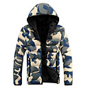 Senleisi Mens Korean Style Camouflage Hoodie Cotton Coat MY11(Blue,Red)
