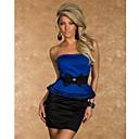 belleza 2014 nuevas mujeres sin tirantes del vestido del bodycon peplum con el vestido de partido atractivo del arco mini club 9025