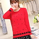 Womens Korean Round Collar Star Print Long Sleeve Knitting Sweater(More Colors)