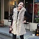 Womens Imitation Rabbit Fur Cappa Waistcoat Fur Coat