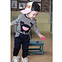 Boys Black Cat Stripe Longsleeve Clothing Sets