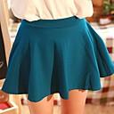 ácido de la moda de la mujer azul del todo-fósforo del color puro mini falda plisada